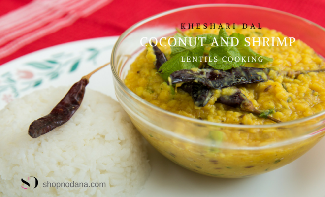 Coconut and Shrimp with lentils